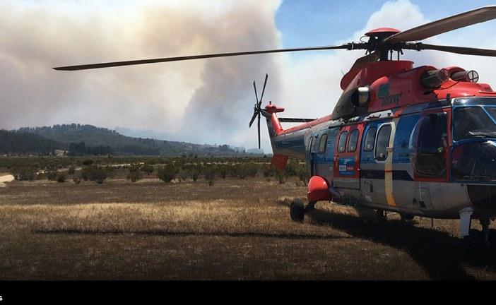 Helicópteros H215 Super Puma culminan su primera temporada de incendios en Chile y fortalecen su alianza con Conaf