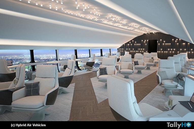 Hybrid Air Vehicles presentó los conceptos de diseño del interior del Airlander 10