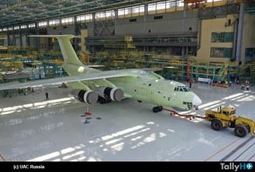 Primer Il-76MD-90A ensamblado en nueva línea de montaje será sometido a pruebas en tierra y en vuelo