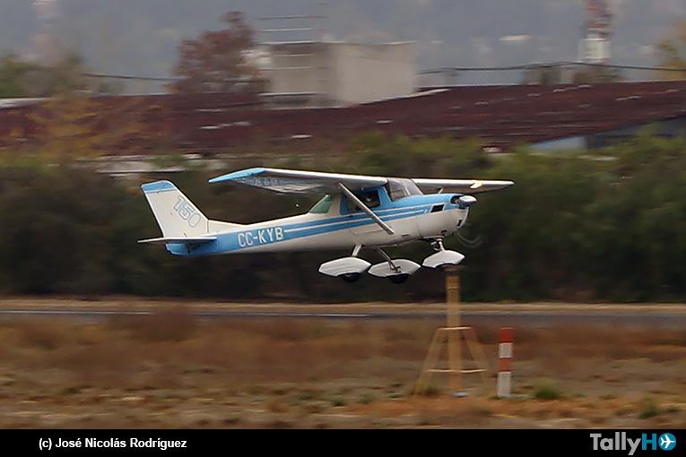 Histórico regreso del Cessna C-150K CC-KYB al Club Aéreo de Illapel