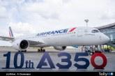 Air France recibe su décimo Airbus A350
