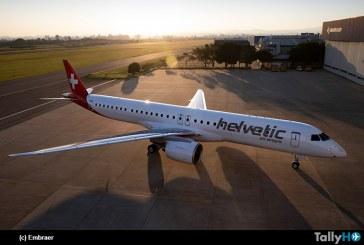 Aerolínea Helvetic recibe su primer Embraer E195-E2