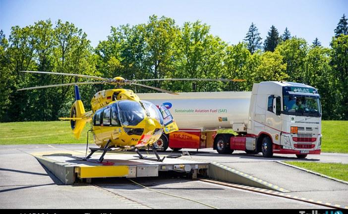 Airbus H145 primer helicóptero de rescate que vuela con combustible de aviación sostenible