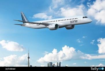 Porter Airlines ordena hasta 80 Embraer E195-E2 como parte de su plan de expansión