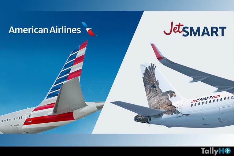 American Airlines y Jetsmart firman carta de intención para crear amplia red de rutas en Sudamérica