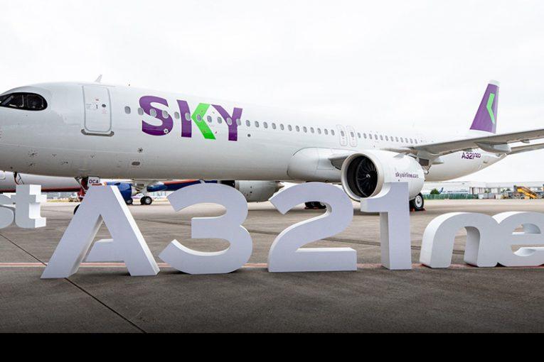 Aerolínea SKY recibe su primer Airbus A321neo