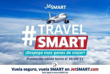 """Una nueva versión del """"Travel SMART"""" de JetSMART llega con tarifas ultra bajas"""