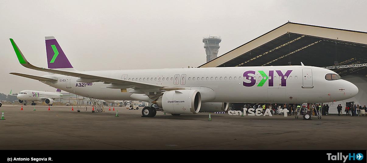 SKY recibe primer Airbus A321neo de su flota