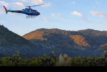 Helicópteros protagonistas en temporada oficial de control de heladas