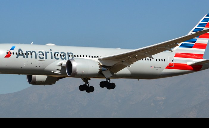 Primer vuelo B-787 Dreamliner de American Airlines a Santiago