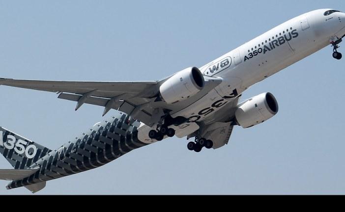 Visita y presentación del Airbus A350XWB en FIDAE
