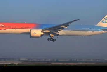 Avión KLM «Orange Pride» en Chile