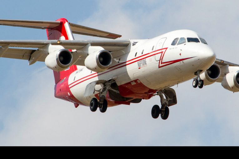 Arribó a Chile BAe 146-200 que refuerza el combate contra incendios