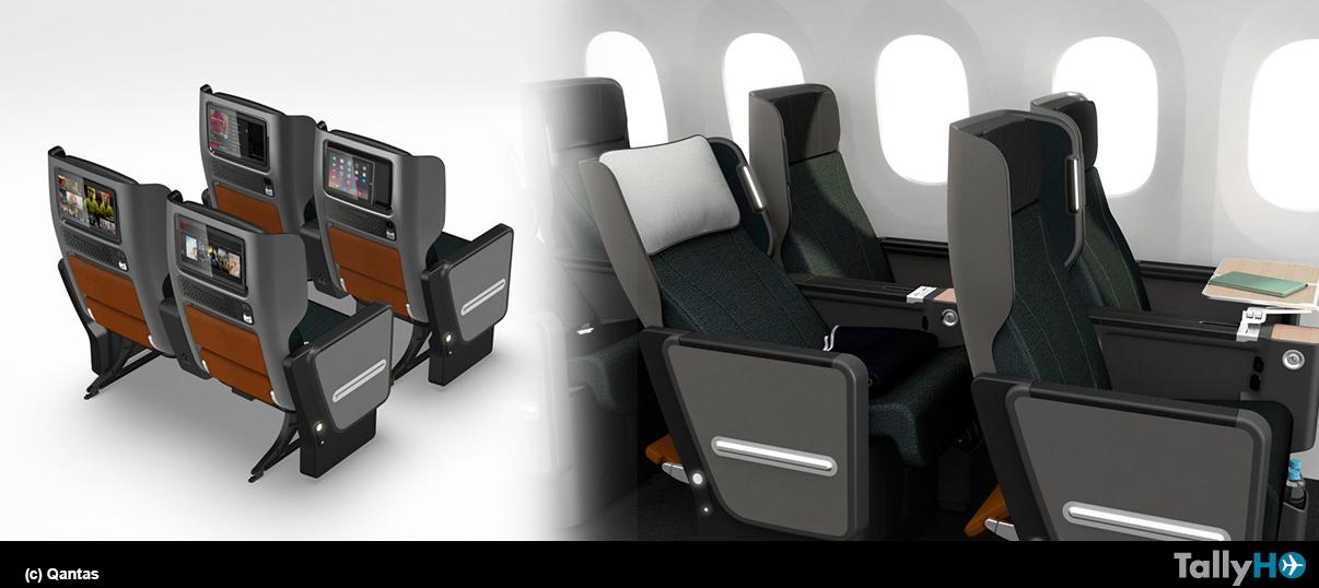 Qantas presentó nuevos asientos para su clase Premium Economy
