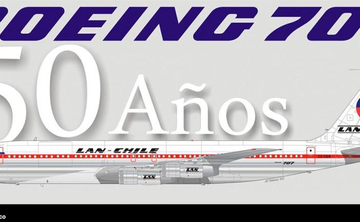 50 Años de la llegada del legendario Boeing 707 a Lan Chile