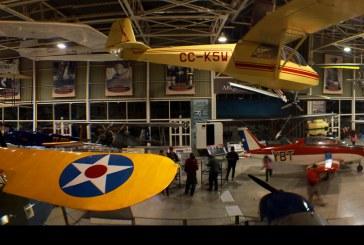 Museo Nacional Aeronáutico y del Espacio a la medianoche