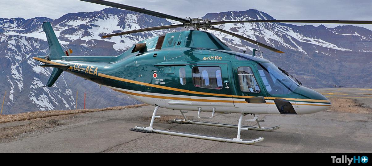 Vuelo demostrativo en Leonardo AW-119Ke Koala a Valle Nevado