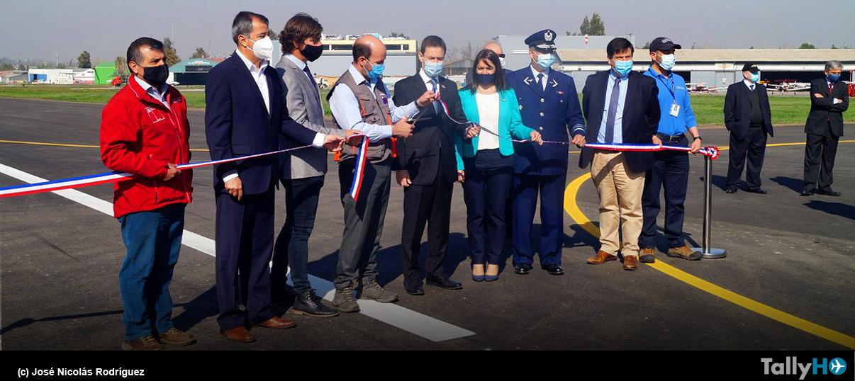 Inauguración de la renovada pista y calles de rodaje del Aeródromo Eulogio Sánchez Errázuriz