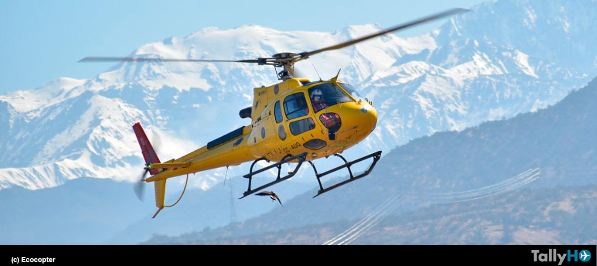 Ecocopter ayuda a trasladar vacunas contra el Covid-19 a sectores apartados de la Región Metropolitana
