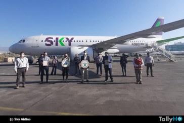 SKY Airline primera línea aérea en recibir el Sello COVID-19 ACHS