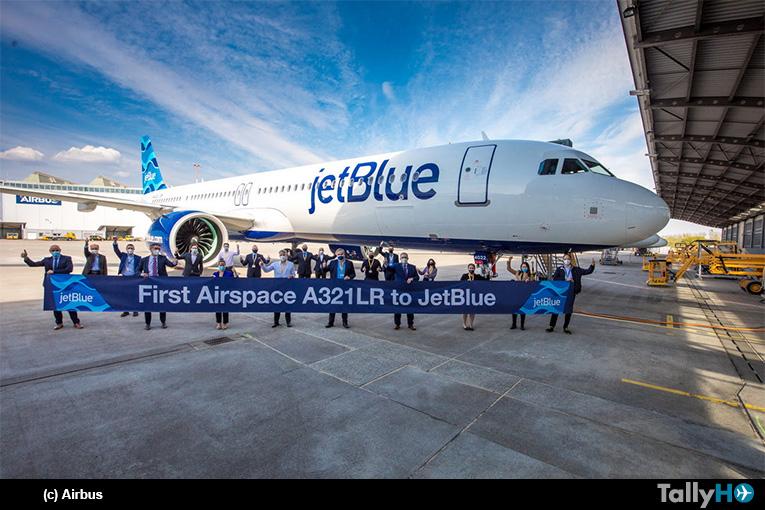 JetBlue recibe primer A321LR con el  interior Airspace