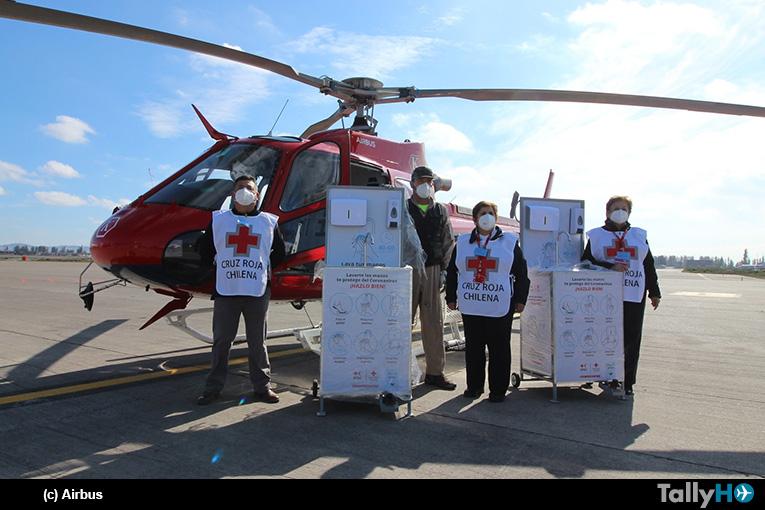 Fundación Airbus colabora con la Cruz Roja chilena en la distribución de kits sanitarios para luchar contra el COVID-19