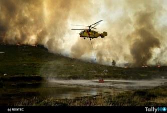 Desde principios de año, los helicópteros Rostec han ayudado a extinguir incendios en 11 países