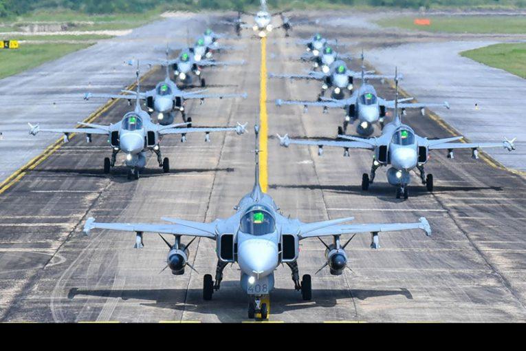 Diez años de servicio cumplieron los Saab Gripen en la Real Fuerza Aérea de Tailandia