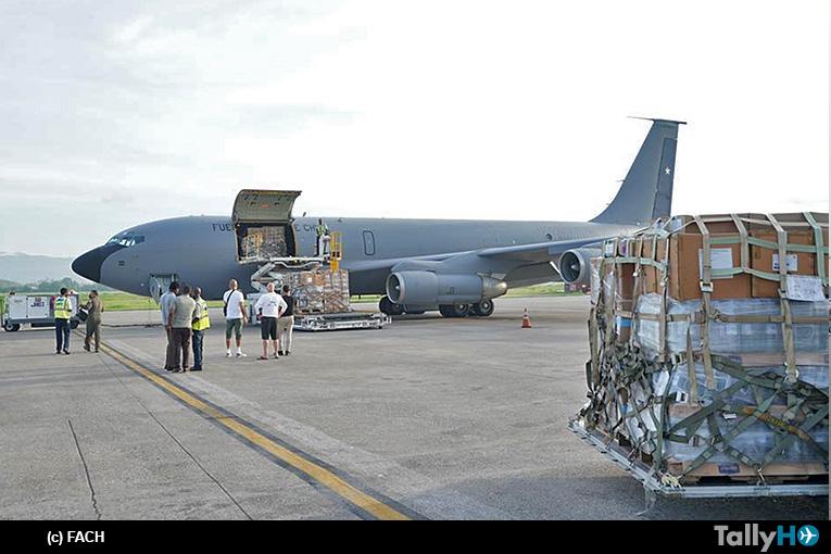 FACH desplegó un KC-135E con ayuda humanitaria a Haití