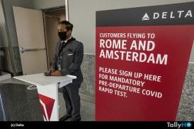 Estudio de Delta devela que las pruebas antes del vuelo bajan notablemente la tasa de infecciones activas por COVID-19 a bordo
